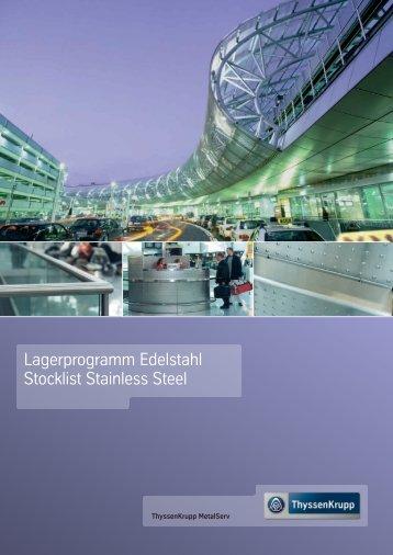 Lagerprogramm Edelstahl Stocklist Stainless Steel - ThyssenKrupp ...