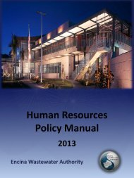 Human Resources Policy Manual - Encina Wastewater Authority