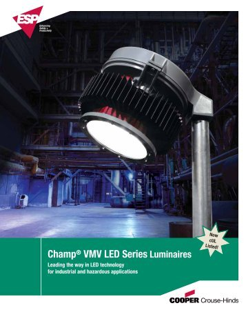Champ® VMV LED Series Luminaires - Cooper Crouse-Hinds