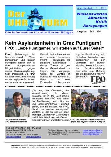 """Kein Asylantenheim in Graz Puntigam! FPÖ: """"Liebe Puntigamer, wir ..."""