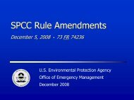 SPCC Rule Amendments - US Environmental Protection Agency