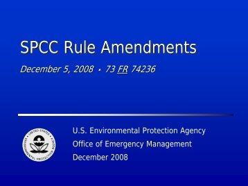 SPCC Rule Amendments - US Environmental Protection Agency