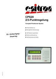 CPS20 2/3-Punktregelung - esitron