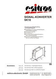 Signalkonverter SK10 - esitron