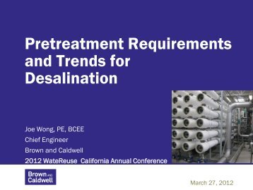 Pretreatment Requirements and Trends for Desalination