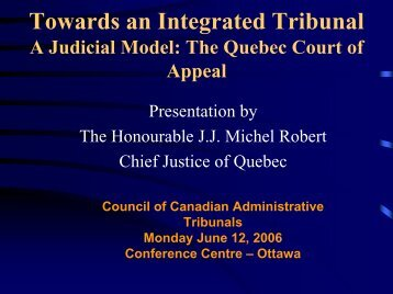 I - Towards an Integrated Tribunal - A Judicial Model - Ccat-ctac.org