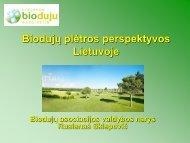 Biodujų plėtros perspektyvos Lietuvoje