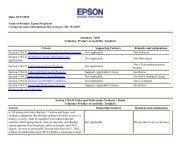 Section 508 Epson Projectors - Network Spectrum, Inc.