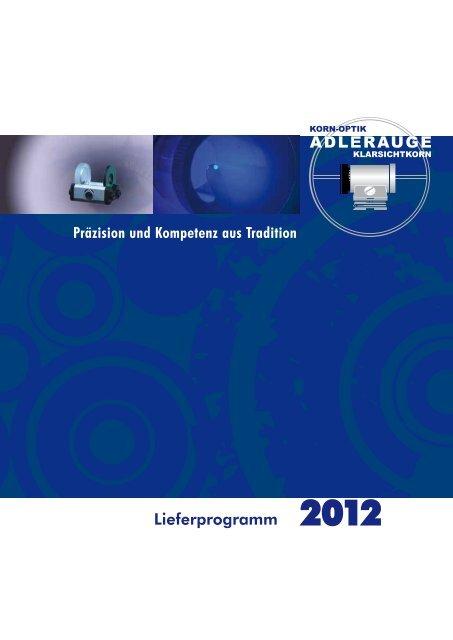 Lieferprogramm 2012 - Kornoptik Adlerauge