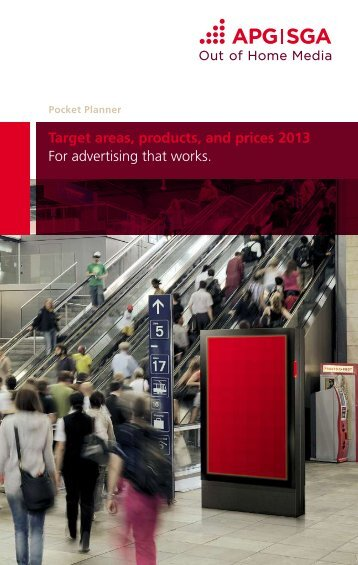 Target areas, products, and prices 2013 For advertising ... - APG|SGA