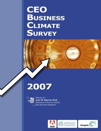 CEO Business Climate Survey 2007 - Silicon Valley Leadership Group