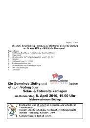 Folge 6, 3/2010 - Gemeinde Söding