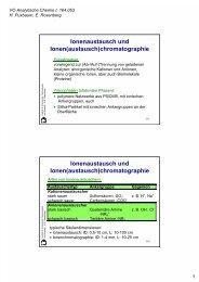 Ionenaustausch und Ionen(austausch)chromatographie ...
