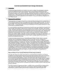 Commercial Establishments Design Standards Ordinance