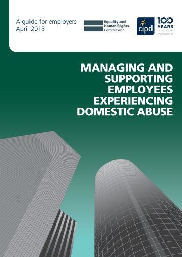 managing and supporting employees experiencing domestic ... - CIPD