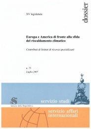 Europa e America di fronte alla sfida del riscaldamento climatico