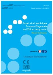 Panel viral entérique - Diagenode Diagnostics
