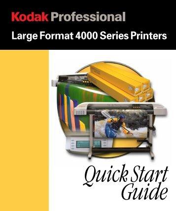 4000 QuickStart Guide - Kodak
