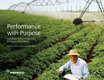 Download our 2008 Sustainability Report Overview - PepsiCo