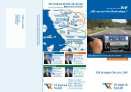 Wir bringen Sie ans Ziel! - VR Bank eG, Niebüll