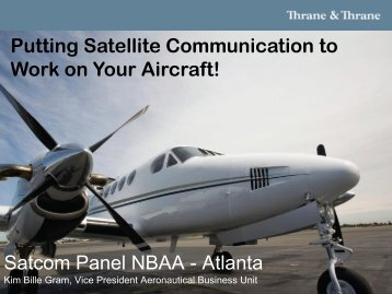 Putting Satellite Communication to Work on Your Aircraft - NBAA