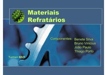 Materiais Refratários - IFBA