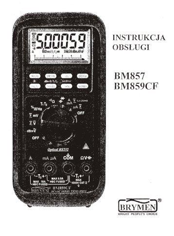OBSŁUGI BM859CF INSTRUKCJA BM857 - BIALL sp. z oo