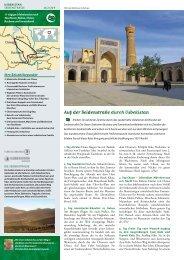 Auf der Seidenstraße durch Usbekistan