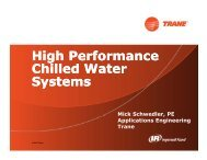 High Performance Chilled Water Systems by Mick Schwedler