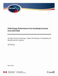 Field Energy Performance of an Insulating Concrete Form (ICF) Wall