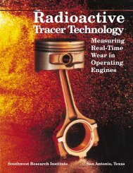 Radioactive Tracer Technology Brochure - Southwest Research ...