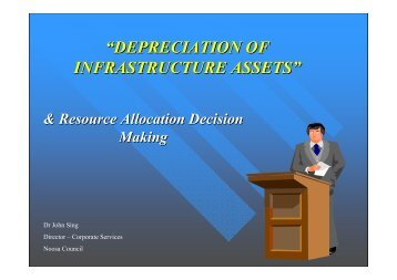 Depreciation of Infrastructure Assets & Resource Allocation Decision ...