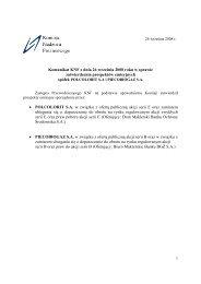 Komunikat KNF z dnia 26 września 2008 roku w sprawie ...