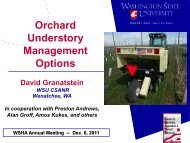 Orchard Understory Management Options - Tree Fruit Research ...