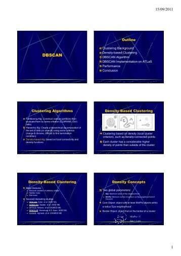 Density Based Clustering - DBSCAN [Modo de Compatibilidade]