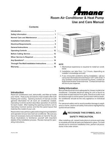 single package vertical air conditioner heat pump amana ptac room air conditioner heat pump use and care amana ptac