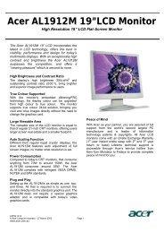 "Acer AL1912M 19""LCD Monitor"