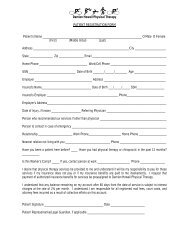 Your Registration Forms - Damien Howell Physical Therapy