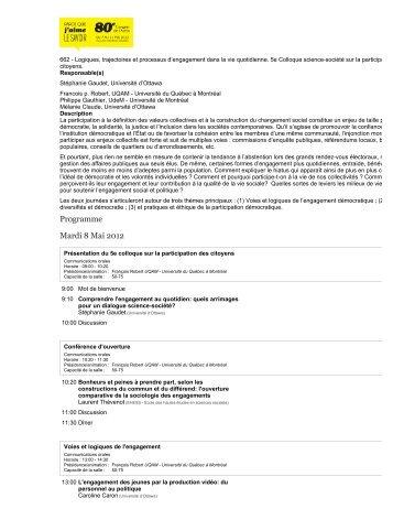 Acfas - Association francophone pour le savoir - design ∩ société ...