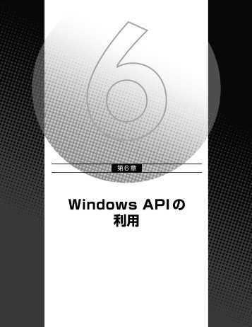 第 6 章 Windows API の利用 - XLsoft.com