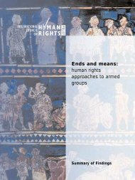 Ends and means: human rights approaches to armed ... - The ICHRP