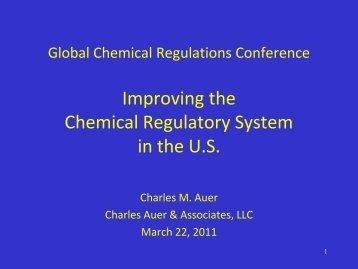 Global Chemical Regulations Conference - SOCMA.com