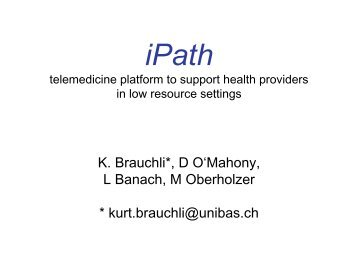 What is iPath - ICMCC