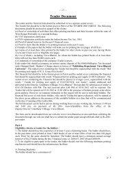 Tender Document - Visva-Bharati