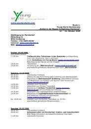 YS Studienreisen Routen Schuljahr 2009-10 1