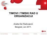 Timovi i timski rad u organizaciji - Razvoj karijere