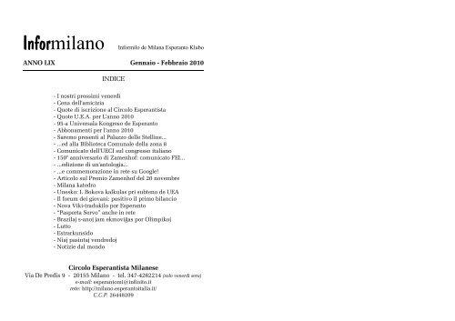 gen-feb - Federazione Esperantista Italiana