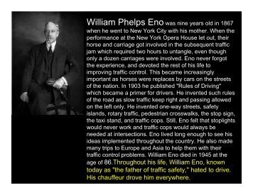 "age of 86.Throughout his life, William Eno, known today as ""the ..."