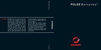 Mammut PBV Handbuch FRANSOESISCH