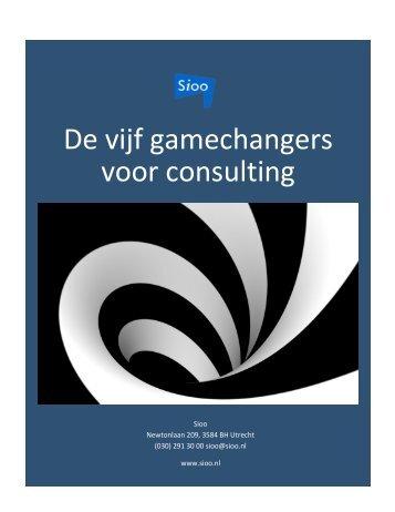 De vijf gamechangers voor consulting dec 2013